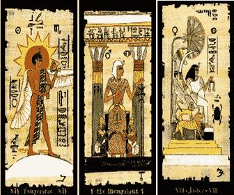 Tarot Egipcio gratis, tirada del amor 3 cartas